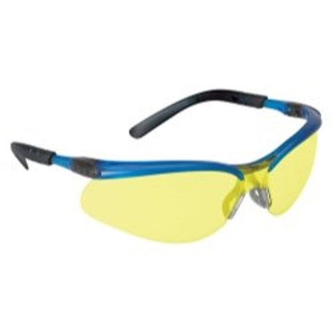 Protective Eyewear, Anti-Fog Lens, Blue Frame (Pack of 20)
