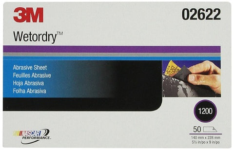 Imperial Wetordry 5-1/2 x 9 Inch 1200C Grit Sheet