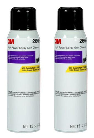 2 CANS OF 26689 SPRAY GUN CLEANER SOLVENT & H2O BASE CLEANER(15OZ) (3M-26689)