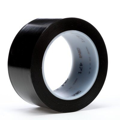 Vinyl Tape 471 Black 4 Inch X 36 Yard 5.2 Mil Thick (1-Roll)