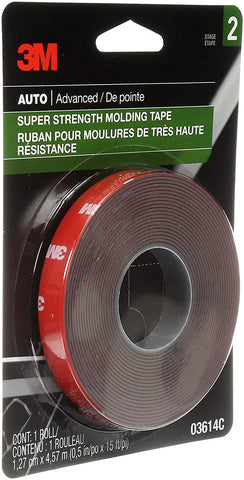 "03614 Scotch-Mount 1/2"" x 15' Molding Tape (Pack of 24)"