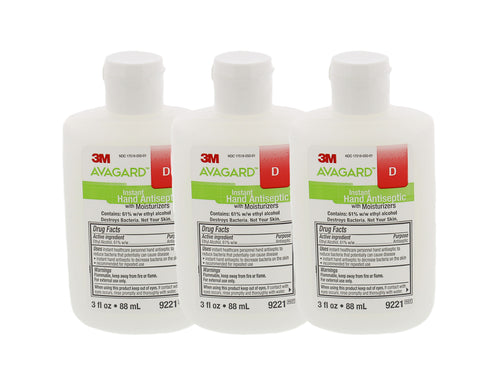 Hand Antiseptic with Moisturizers, 3-Pack