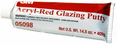 05098 Acryl-Red Glazing Putty Tube - 14.5 oz.