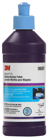 3M 06097 Perfect-It EX Ultrafine Machine Polish, 8 oz - Autobodynow.com