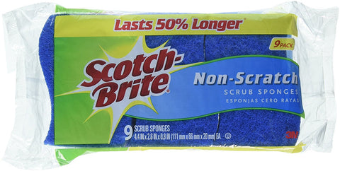 9 Pack Scrub Sponges