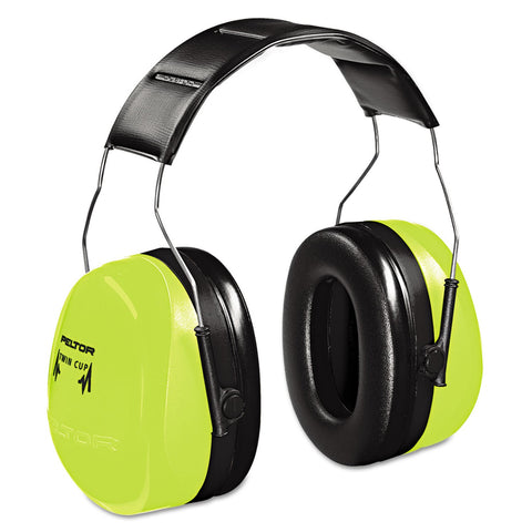 Ear Muff, 30dB, Over-The-Head, Black/Green
