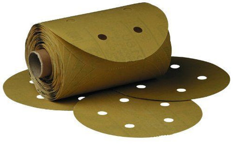 3M 01635 Stikit Gold 6' P320A Grit Dust-Free Disc Roll - Autobodynow.com