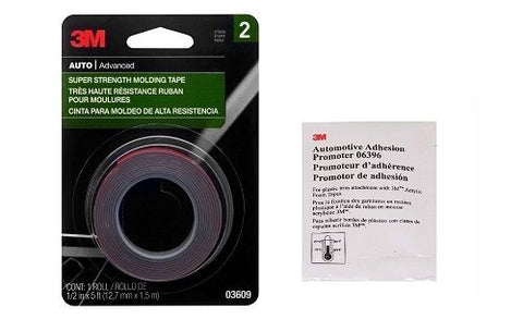 3M 03609 Double Stick Tape 1/2' x 5' and Adhesion Promoter (06396) - Autobodynow.com