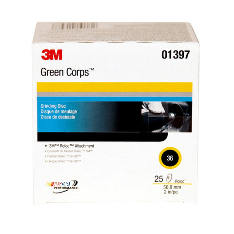 2 Inch Green Corps Roloc Green Disc 36 Grit