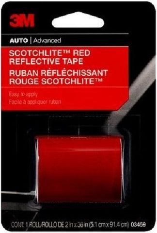 3M 03459 Scotchlite Reflective Tape, Red, 2-Inch by 36-Inch - Autobodynow.com