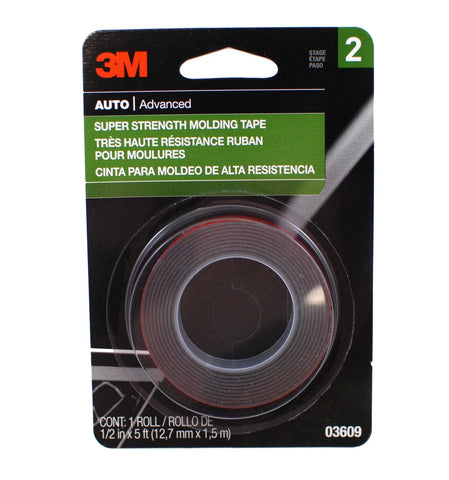 1/2 x 60 Inch Molding Attachment Tape