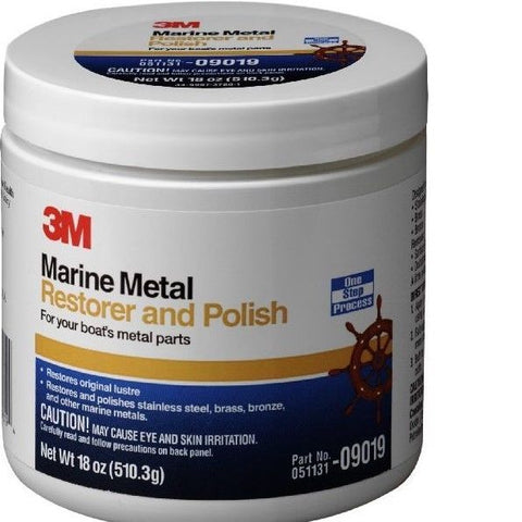 3M 09019 Marine Metal Restorer and Polish (18-Ounce Paste) - Autobodynow.com