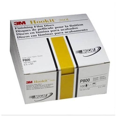 3M 00970 Hookit 6' P800 Grit Finishing Film Disc - Autobodynow.com