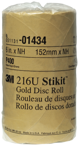 Stikit Gold 6' P400A Grit Disc Roll