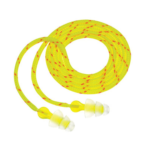 Tri-Flange Cloth Corded Earplugs