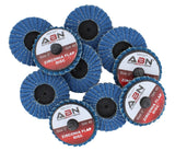 "2"" and 3"" Zirconia Alumina Flap Discs (10 packs) Various Grits ABN - Autobodynow.com"