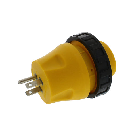 RV Power Cord Electrical Locking Adapter 15A Male to 30A Female