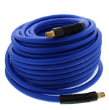 "Lightweight Heavy Duty Hybrid All Weather Air Hose 1/4 Ends 3/8"", 300 PSI 100 Ft"