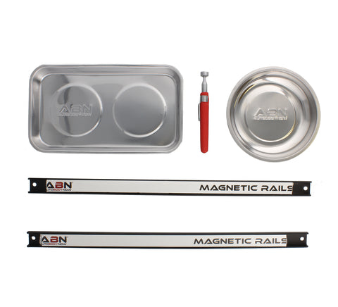 Magnetic Trays, Telescoping Stick Wand Pick Up, Tool Holder Rack