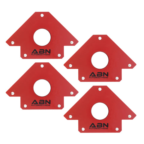 Arrow Welding Magnet, 45, 90, 135 Degree Angle, 4 Pack of 75 Lb Magnet