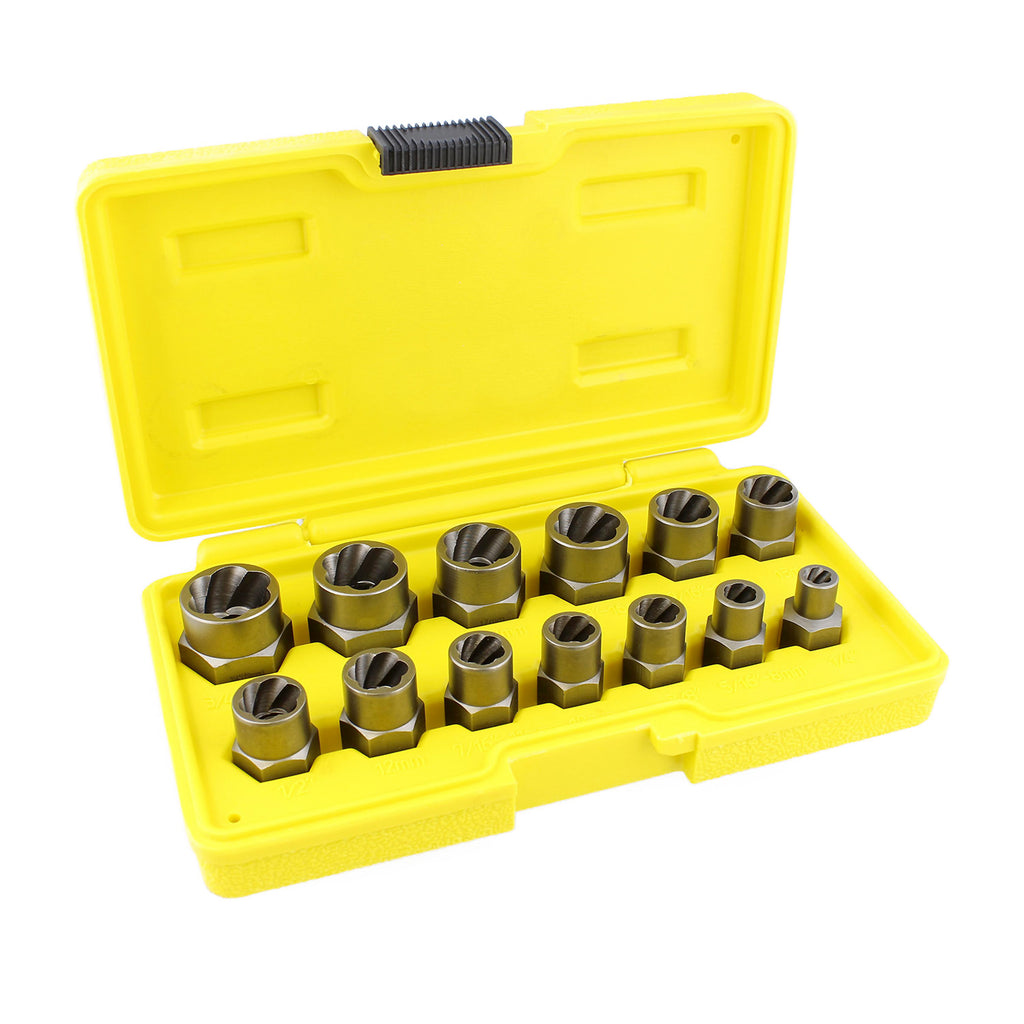 3 8 In Nut And Bolt Extractor Set Impact Sockets 13 Pc Abn 2467
