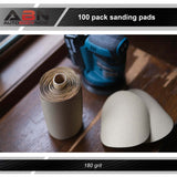 180 Grit Sandpaper Roll - 6 IN Round Sanding Discs Sticky Back, 100Pc