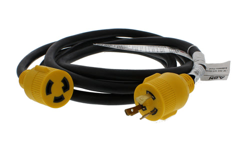 30 AMP Generator Cord – 10' Foot STW Extension Cord 3 Prong Lock Plug