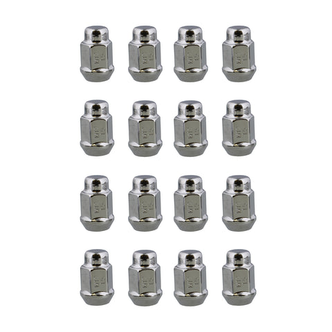 "Acorn Cone Wheel Lug Nuts 16pk – M12 Chrome Lug Nuts – 3/4"" Wheel Lugs"