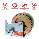 Heavy Duty Hand Crank Gear Winch and Cable