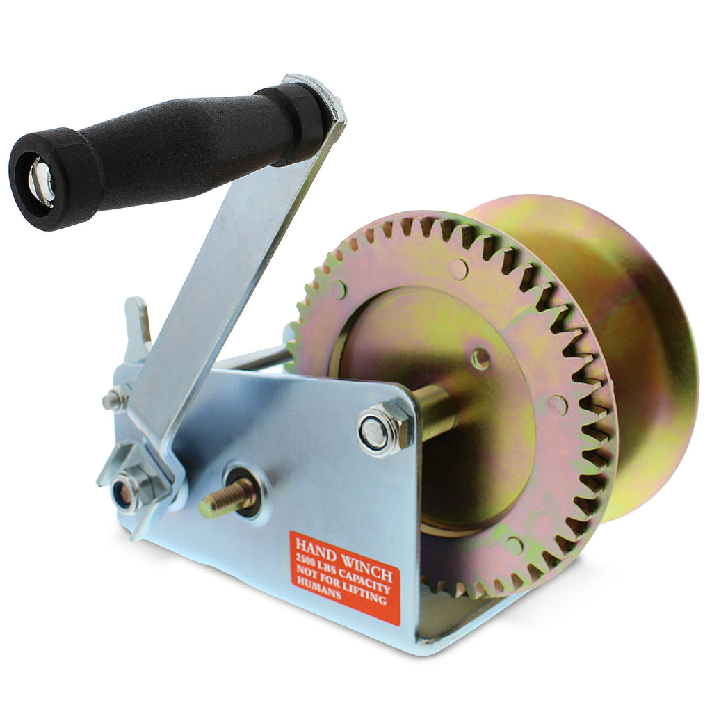 Hand Winch Crank Gear Winch & Cable, Heavy Duty, for Trailer, Boat or