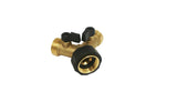 Garden Hose Splitter – 2 Way Solid Brass Y Valve Female Connector