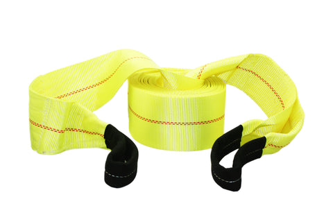 Tow Recovery Winch Strap with Reinforced Loops