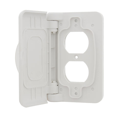 Weatherproof Receptacle Cover, White – RV Outdoor Electrical Outlet