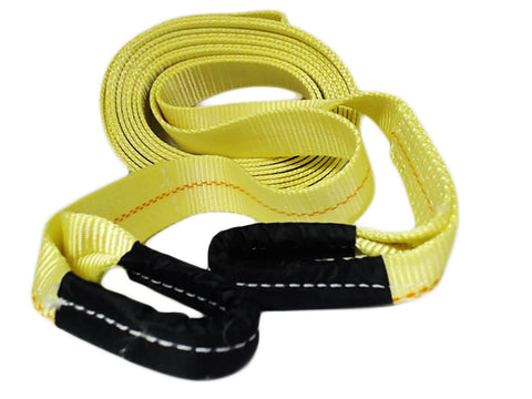 "Tow Strap with Hooks 2"" x 30' Vehicle Recovery Rope Recovery Strap"