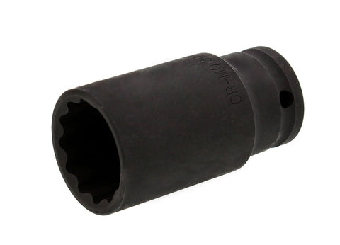 "Axle Nut Socket – 30mm, 1/2"" Inch Drive, 12 Point"