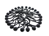 "6"" Inch Ball Bungee 25-Pack – Black Bungee Cords with Plastic Balls"