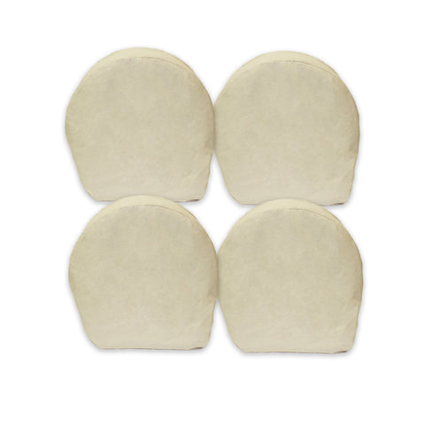 "Canvas Wheel Covers 29"" Inch Set of 4 for RV, Camper, Trailer, Vehicle"