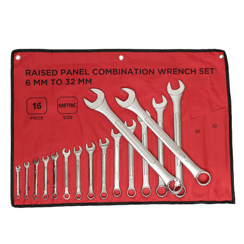Combination Wrench Set Metric Wrench Set 6mm to 32mm 16-Piece