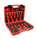 "1/2"" Inch Drive SAE Impact Socket Set with Extensions & Swivel Joint"
