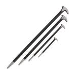 4pc Rolling Head Pry Bar Set - 6, 12, 16, and 20 IN Ladyfoot Pry Bars