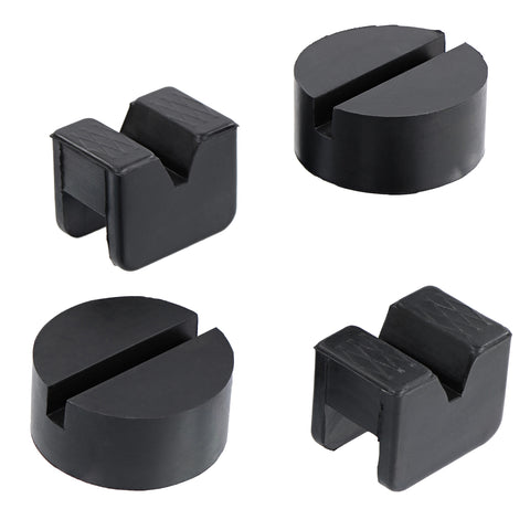 Jack Pad Adapters - 4Pk Car Protector V Shape and Puck Jacking Blocks