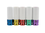 "1/2"" Inch Drive Lug Nut Socket Non-Marring, Thin-Walled 5-Piece Set"