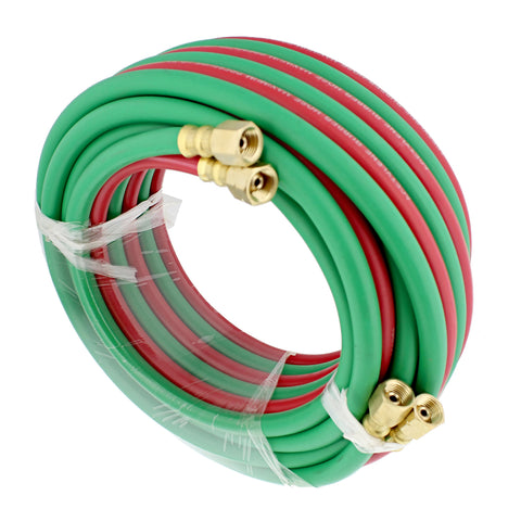 Oxygen Acetylene Hose 1/4 IN Twin Welding Hose Torch Hoses, 25 Ft
