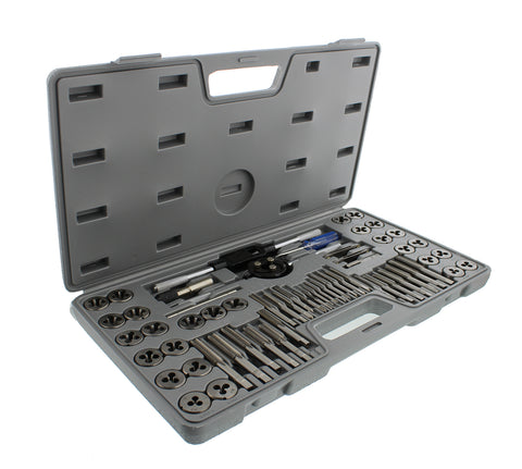 Metric SAE Standard Tap and Die 60-Piece Set Thread Rethread Kit