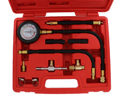 Universal Fuel Injection Pressure Test Kit with IMPROVED Flex Hoses