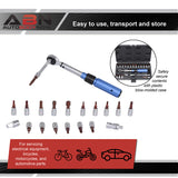 1/4IN Dr Click Torque Wrench Set - 2-22Nm 20-200IN/Lb Bicycle Tool Set