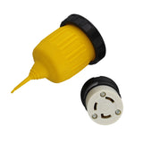 30A 125V Connector with Twist Lock Inlet Plug Power Cord Cover & Ring