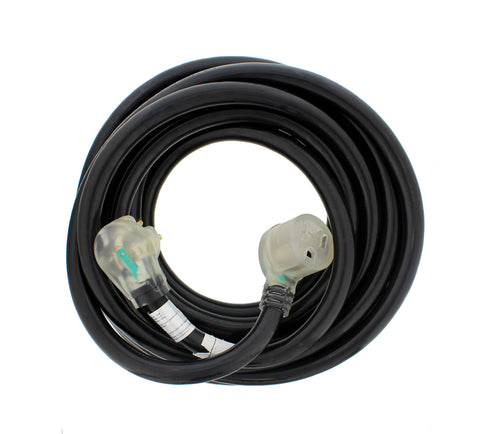 Welding Cable 25' foot 8 AWG 40A with Lighted Receptacle