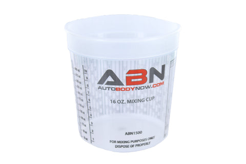 16oz / 473mL Paint Mixing Cup with Calibrated Mixing Ratios