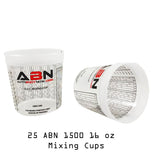 16oz / 473mL Paint Mixing Cup with Calibrated Mixing Ratios 25-Pack